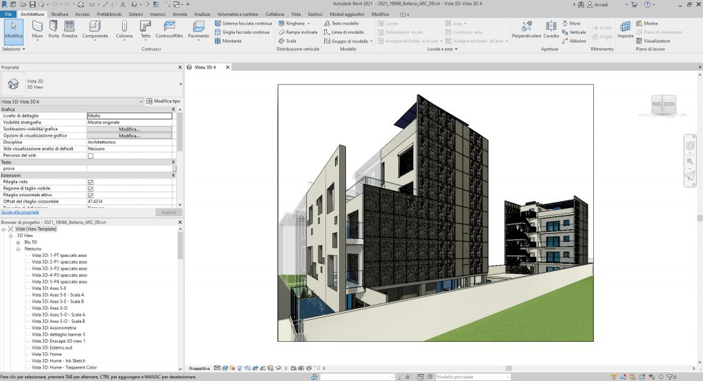 Interfaccia Revit 2021